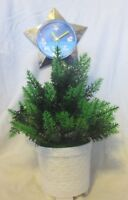 Vintage Star Time Lighted Dancing Christmas Tree With Star Clock