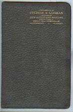 c1900 Montgomery Alabama STEINER & LOBMAN dry goods, Essanell advertising wallet