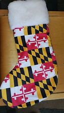 New MARYLAND FLAG CHRISTMAS STOCKING