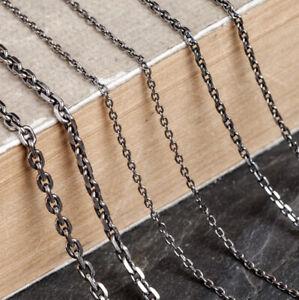 I13 Herren Damen 1,5 - 3 mm Anker-Kette 925 Sterling Silber Länge wählbar