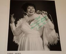 CONNIE HAINES / BIG BAND SINGER /   8 X 10  B&W  AUTOGRAPHED  PHOTO