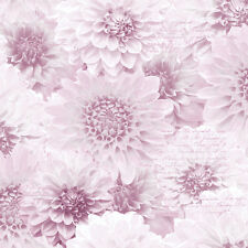 PINK CHRYSANTH NATURAL FLOWER FLORAL SCRIPT MURIVA FEATURE WALLPAPER 128504