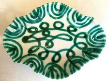 Gmundner Keramik ovale Schale 0131 Schüssel grün geflammt