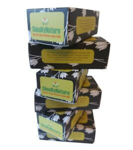 6 bars Deodorizing Charcoal Soap, Shea butter, Olive, Coconut oil, TeaTree  Mint