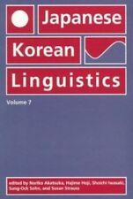 Japanese/Korean Linguistics: Volume 7: v. 7 (Japanese/Korean Linguistics (Paperb