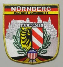 "Nurnberg Military Community U.S. Forces patch 5"" x 5"" Cold War Era"