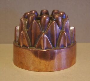 ### ANTIQUE COPPER AND TIN LINED JELLY MOULD ###