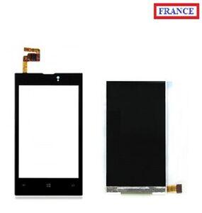 Écran Vitre tactile NOIR + LCD Nokia Lumia 520 (#A180#)