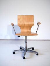 VINTAGE RETRO 60s 70s MID CENTURY JACOBSEN STYLE PLYWOOD SVIWEL OFFICE CHAIR