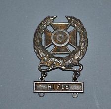 WW2 US Army Sterling Silver Expert Marksman Badge Rifle Bar