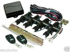 Mongoose 4 Door Central Locking Kit & 2 Remote Controls Keyless Entry System New