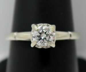 14K Gold ~ 0.40 Carat * DIAMOND SOLITAIRE ENGAGEMENT RING * VS-1 / G ~ CERTIFIED