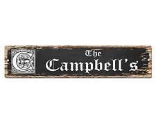 SP0480 The CAMPBELL'S Family name Plate Sign Bar Store Cafe Home Chic Decor Gift