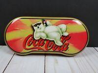 VTG Coca-Cola Coke Polar Bear Sunglass 90's Collectible Tin Case