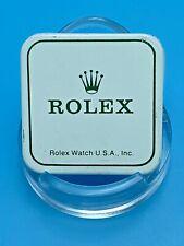 ROLEX WATCH USA Genuine Parts TIN BOX 1960s Green Rolex Logo on White