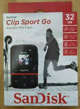NEW SanDisk Clip Sport Go 32GB Red MP3 Player LCD screen FM RADIO Voice Recorder