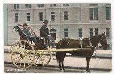 A Caleche Horse & Buggy Quebec Canada 1910c postcard