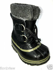 Sorel Yoot Pac waterproof Kids Black Boots Size 6 US.