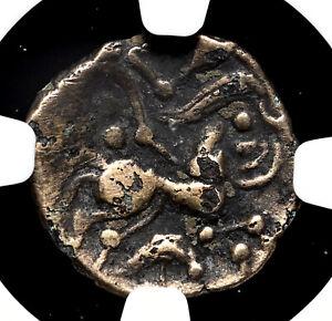 GAUL, Northwest. Namnetes. Fourree Electrum (Gold) 1/4 Stater, NGC F