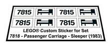 Lego® Custom Sticker for Train 4,5V 7815 - Passenger Carriage - Sleeper (1983)