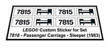 Replica Sticker for Train 4,5V 7815 - Passenger Carriage - Sleeper (1983)