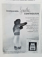 1949 Vintage Smoothie Controleur Womens Girdle Garters Bra Original Fashion Ad