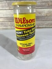 Vintage Plastic Tennis Ball Can Wilson Empty Prop