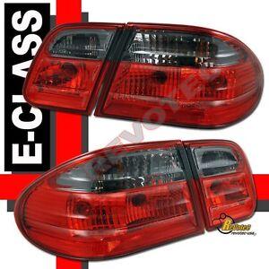 1996-2002 Mercedes Benz E Class W210 E300 E430 E320 E420 Red Smoke Tail Lights