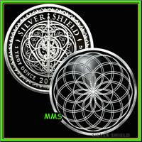 2021 1oz Lotus Flower of Life Proof Silver Shield Sacred Geometry Series #9 ***