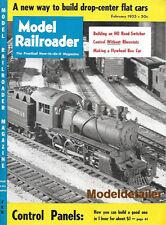 Model Railroader Feb.55 HO SD-7 Switcher Geep Coaling Dock Short Line GB&W