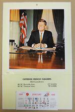 JOHN F KENNEDY wall calendar 1968