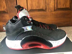 Nike Air Jordan XXXV Bred Black Fire Red CQ4227 030 Men's Size 8 NOBOXTOP