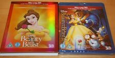Disney's Beauty and the Beast 3D (+ 2D, Region Free) Rare Slipcover, NEW/SEALED