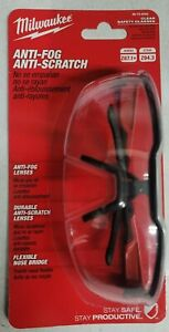 Milwaukee Clear Safety Glasses w/ Scratch Resistant Fog-Free lenses #48-73-2000