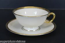 Lenox Tuxedo Coffee Cup and Saucer Excellent
