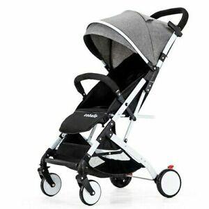Lightweight Alloy Baby Stroller Portable Simple Folding Shock Baby Trolley 0-4Y