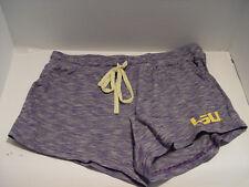 New Women's LSU Tiger Louisiana State University Purple Lounge Shorts Medium