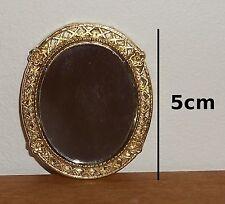 miroir ovale avec cadre doré,miniature maison de poupée, vitrine,collection *C4e