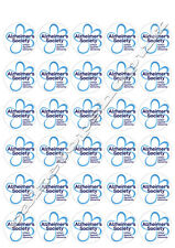 30 Alzheimer's society /dementia cake toppers 40mm Printed on premium rice paper