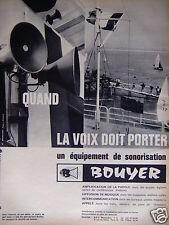 PUBLICITÉ 1964 BOUYER ÉQUIPEMENT DE SONORISATION - ADVERTISING