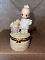 "Precious Moments Trinket Box #495891 ""God Loveth A Cheerful Giver"" 1998 - NO BOX"