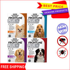 Frontline Plus 3 Pipettes Flea and Tick Treatment for Dogs All sizes