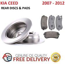 FOR KIA CEED 1.4 1.6 CRDi  REAR BRAKE DISCS & PADS 2007 - 2012 *NEW*