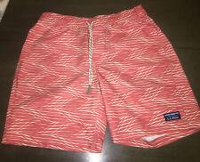New listing NWOT LL Bean Nylon Red  Print Swim Trunks Swimsuit Shorts Sz M