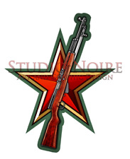 SKS Simonov Soviet Russian Army Military Cold War Rifle Vinyl Decal Sticker