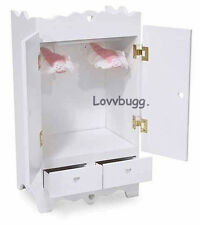 """White Wardrobe Armoire Furniture for 18"""" American Girl Doll Clothes Lovvbugg"""