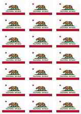 California State USA Flag Sticker Sheet