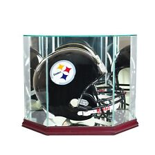 F/S Glass/Mirror Football Helmet Display Case  New UV NFL NCAA Free Shipping!!!