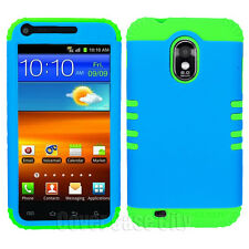 Blue Hard Case + Green Hybrid Impact Cover for Samsung Galaxy S2 Epic Touch D710