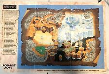 Final Fantasy Mystic Quest Super Nintendo SNES Foldable Promo Poster Map Insert
